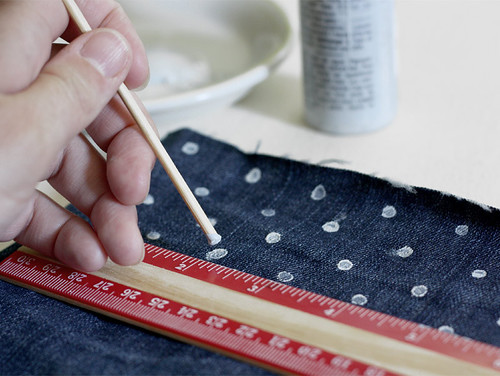 polka dotted denim DIY | by AMM blog