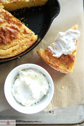 Rosemary Cornbread with Goat Cheese Butter | by Heather Christo
