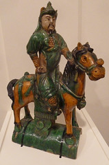 KU Spencer - China - Ming - 17c - Equestrian Warrior Roof Finial Guardian