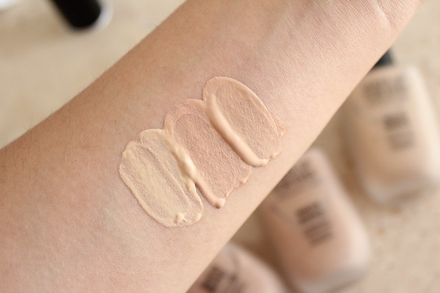 Make Up For Ever Water Blend Foundation in Y245, R300 andY325