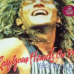 "Bon Jovi Lay Your Hands On Me Poster 12"" EP Maxi-Single"