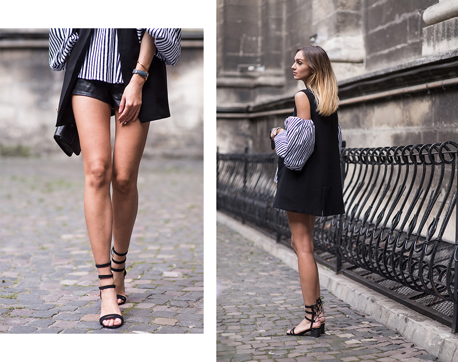 leather-shorts-sleeveless-blazer-black-outfit-street-style
