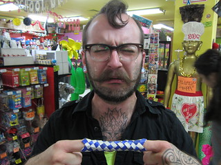 September 2012: Dan'l Picks Chinese Finger Trap | by Archie McPhee Seattle