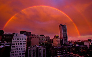 Another Double Rainbow shot from yesterday over San Francisco | by tobyharriman
