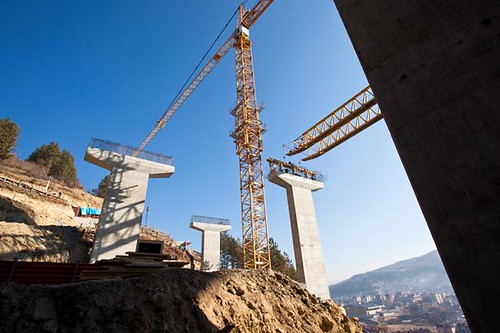 Crane on construction site | by Uros Jonic
