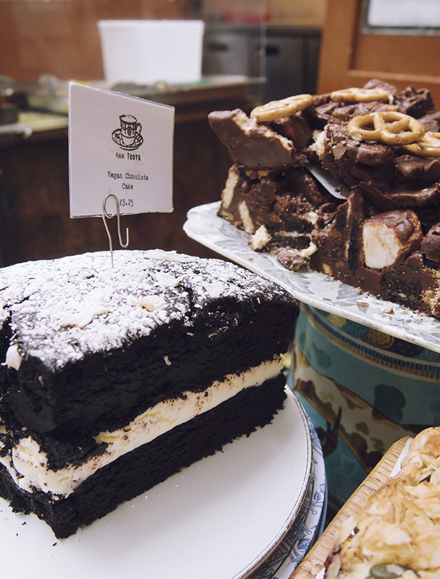 being little: bristol city guide - st nicks market vegan chocolate cake rocky road