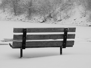 winter_bench | by nancyjoy