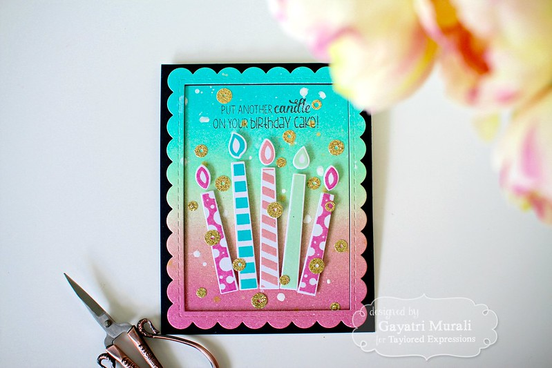 Birthday candles flat