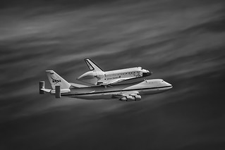 Space Shuttle Endeavour - Menlo Park - 2012 (B+W) | by SJL