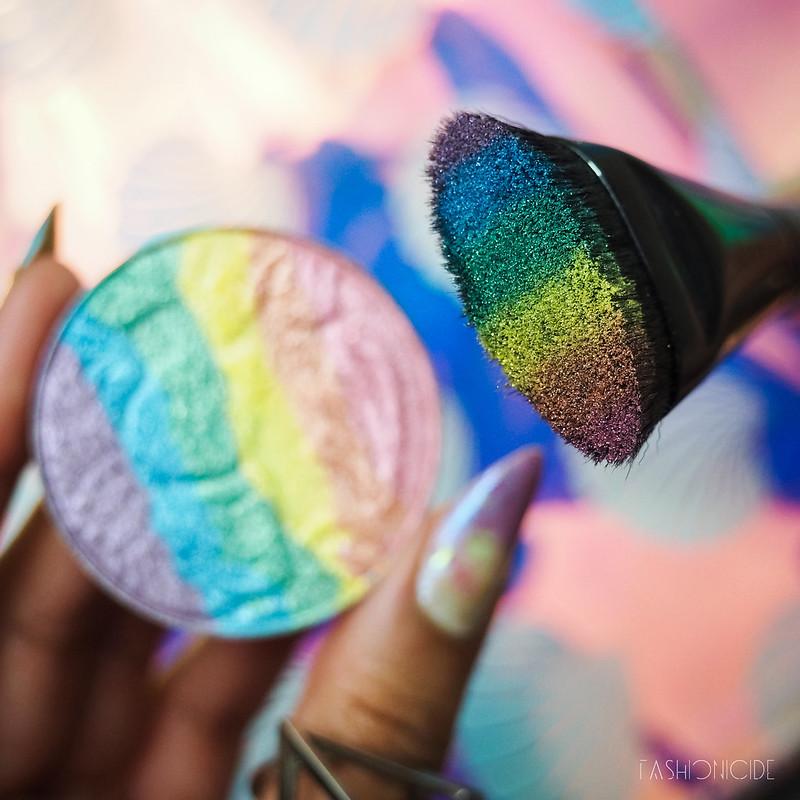 Rainbow Highlighter On Dark Skin