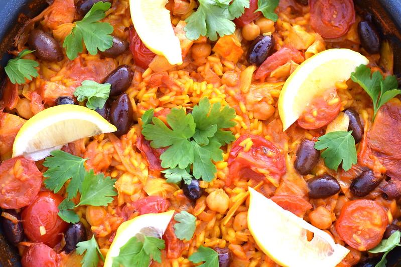 vegansk paella