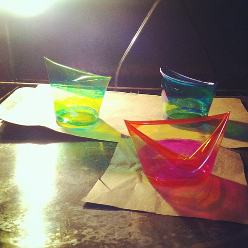 Hey plastic cups,  you're supposed to melt into nice, round discs of color. The interwebz said so... #projectfail | by jodie hurt