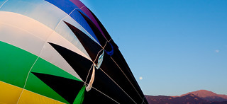 Pikes Peak Moon Setting at the Colorado Balloon Classic | by Bridget Calip - Alluring Images