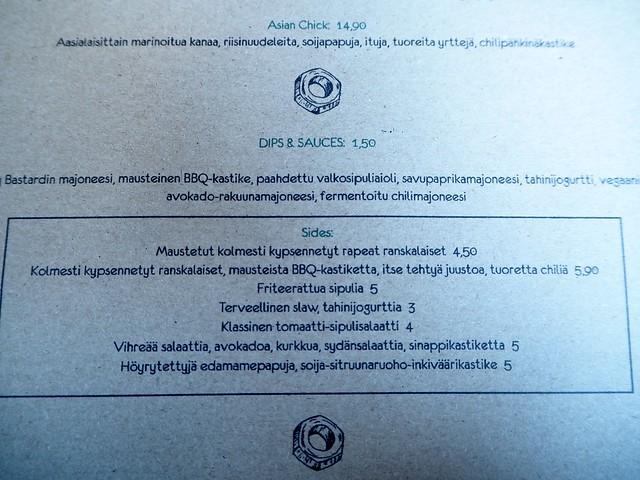 menutheluckybastardsidesdipsaucesP8315519,TheBastardBurgerHamburgerRestaurantHelsinkiFinP8315531,theluckybastarditishelsinkiP8315550, the lucky bastard, itis, helsinki, suomi, finland, new restaurant, uusi ravintola, burgers and brews, hamburger, hampurilainen, east helsinki, itis kauppakeskus, itis, shopping center, freak shake, pirtelö, bastard burger, menu, visit, tasted, experiment, kokemukset, review, arvio, ravintola vinkki, resturant tips, visit helsinki, ruoka, food, burger restaurant, the bastard, the lucky bastard, sides, menu, ruokalista,