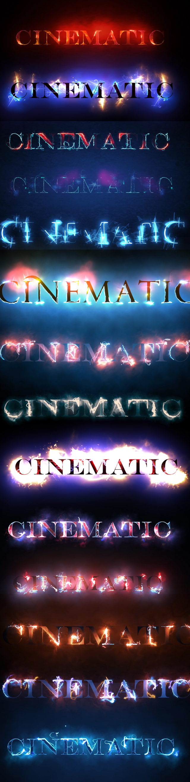 50 Cinematic Text Styles
