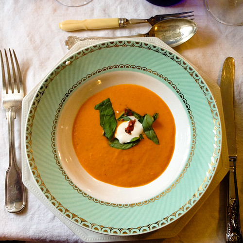 Roasted red pepper soup with harissa | by monica.shaw