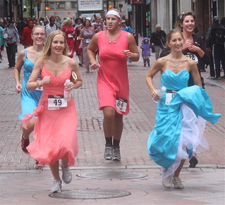 boston running of bridesmaids downtown crossing 50 | by photographynatalia