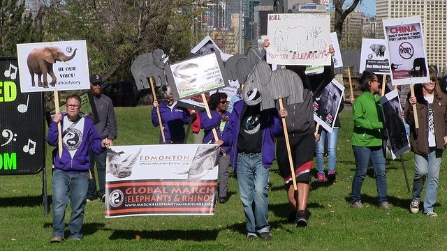 Global March for Elephants and Rhinos - Edmonton