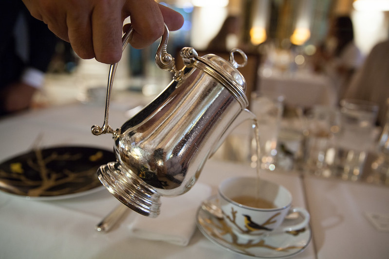 Pouring my 'Casablanca' tea from Mariage Freres