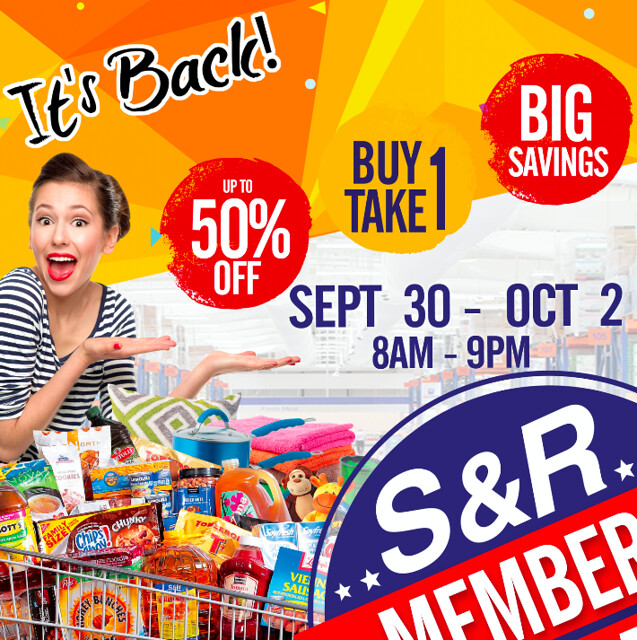 Big S&R Sale on September 30 to October 2