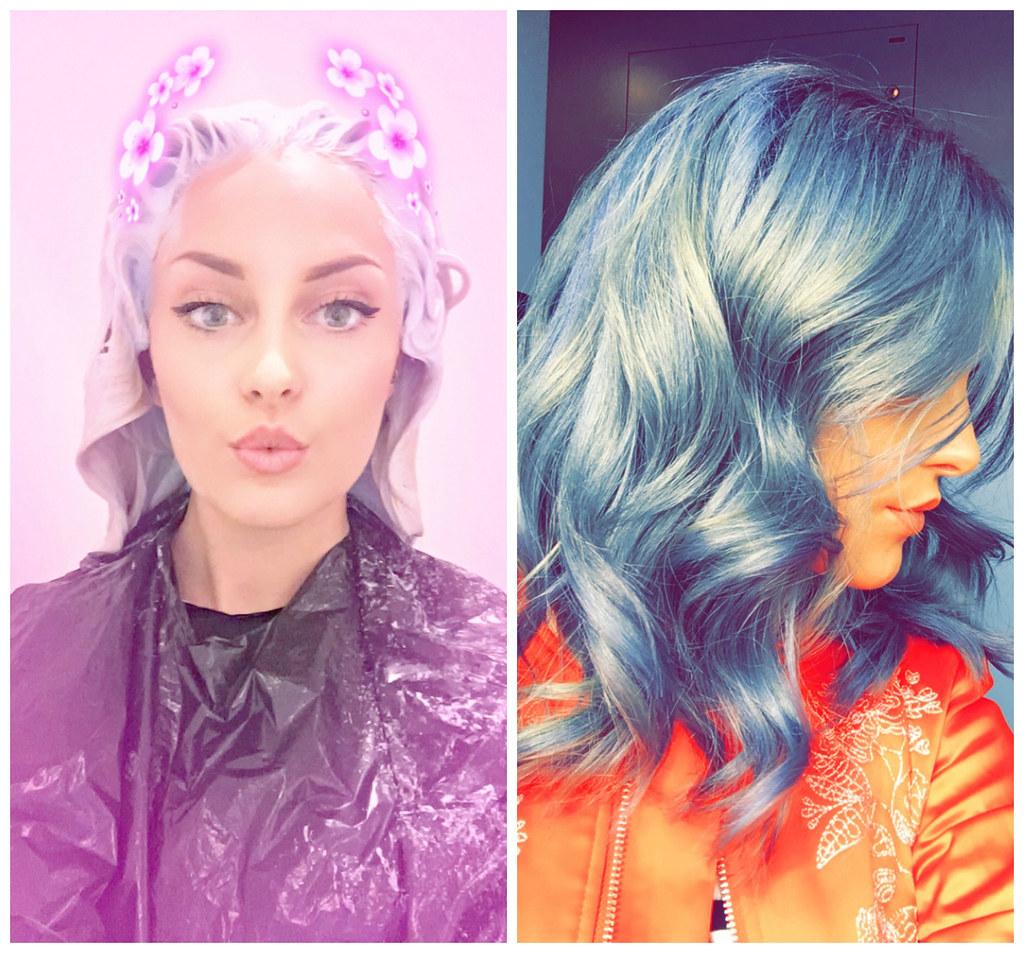 The Little Magpie Blue Hair
