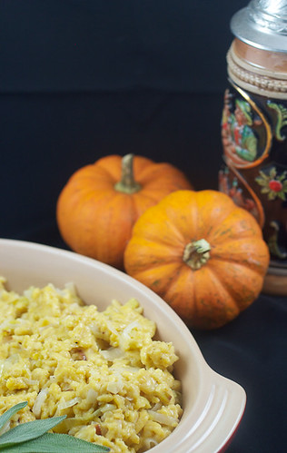 Pumpkin Spaetzle with Leeks | by LittleRedKitchen