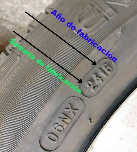¿Sabes la edad de tus neumáticos y cuándo cambiarlos?