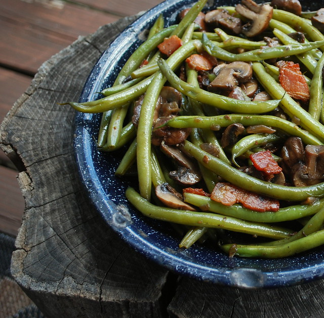 Green beans & mushrooms 1