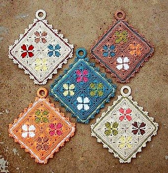 Stained glass potholder
