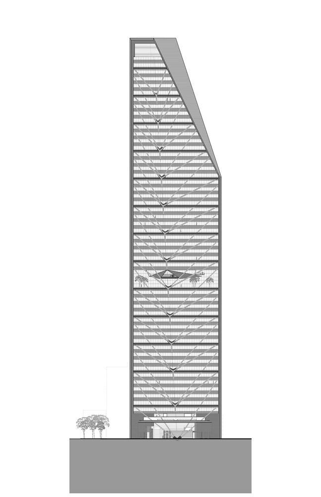План башни Torre Reforma от LBR + A