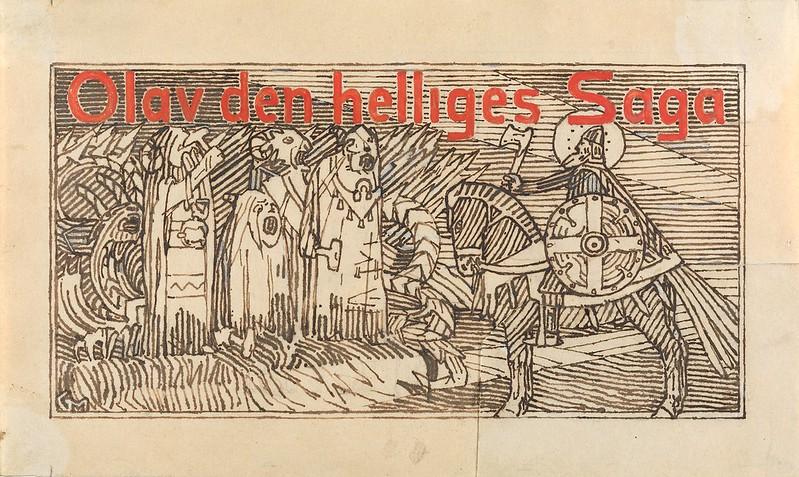 Gerhard Munthe - Til Snorre Sturlason, Kongesagaer, Kristiania 1899