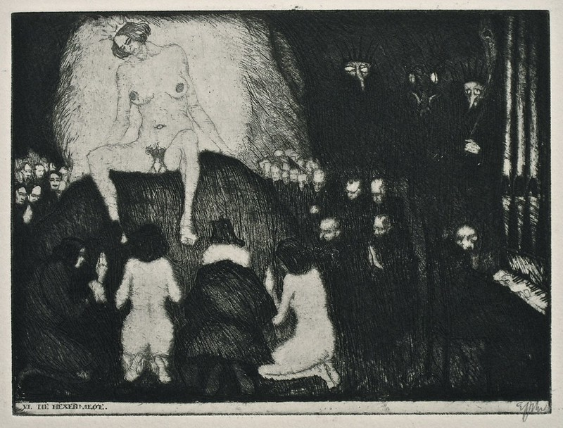 Stefan Eggeler - The Walpurgisnacht Portfolio (six etchings after Gustav Meyrinks) 1922 (3)