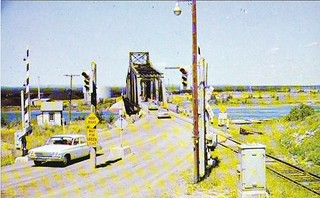 Little Current Swing Bridge   Old postcard of swing bridge ...