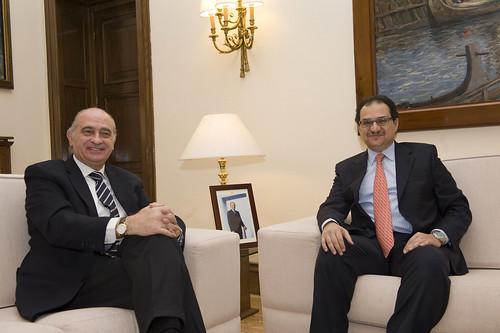 El ministro del interior jorge fern ndez d az se re ne for El ministro de interior