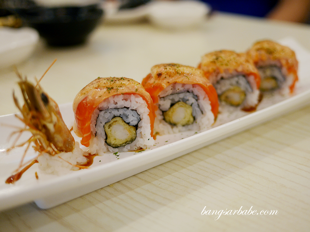 Salmon Mentai Dragon Maki (2)