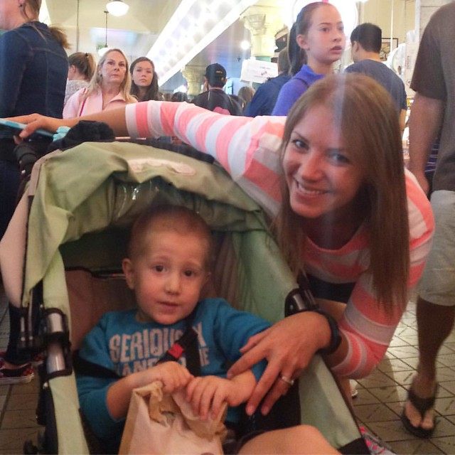 My cute cousin Erika and her equally cute son Cash.