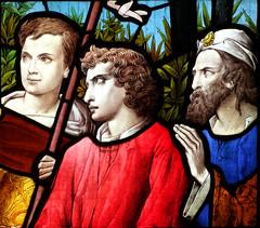 Longinus, John and Peter at the foot of the Cross (Ward & Hughes, 1886)