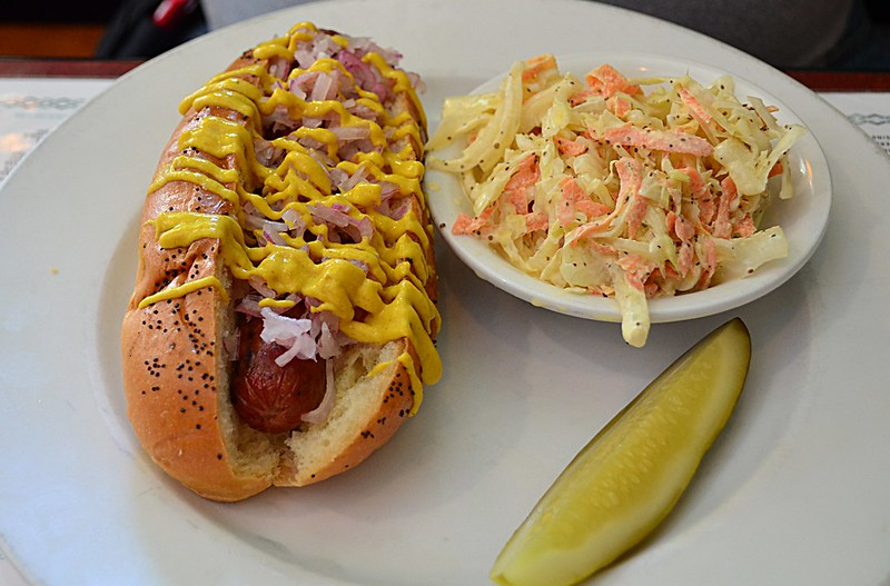 Hot Dog and Slaw at Perly's