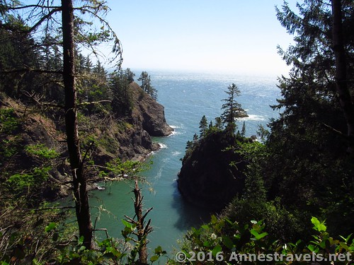 Views of a cove along the way near Thunder Rock Cove, Samuel H. Boardman State Scenic Corridor, Oregon