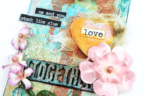 Meihsia Liu Simply Paper Crafts Mixed Media Tag Love 3