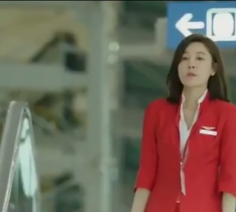 airasia on the way to the airport Kim Ha Neul