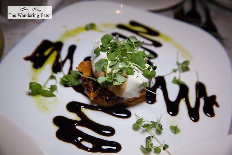 Black truffle burrata, tomato confit, balsamic glaze