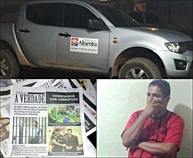 Veículo da prefeitura flagrado com panfleto difamatório contra candidata do PSB