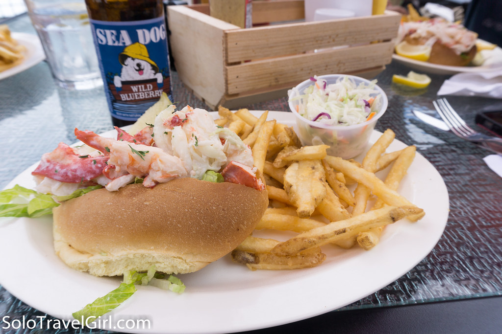 Lobster Roll at The Upper Deck at the Marina, Southwest Harbor, ME, July 2016