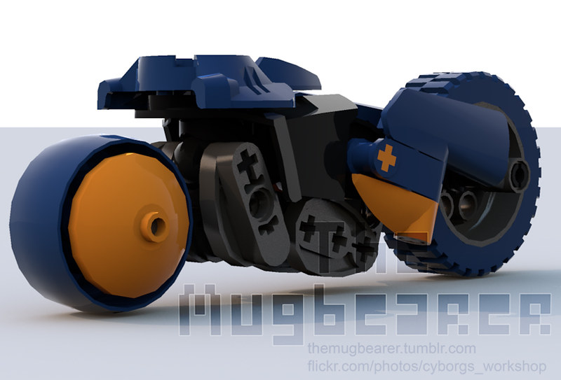 Bluerender Extreme G Inspired Bike Lego Sci Fi Eurobricks Forums