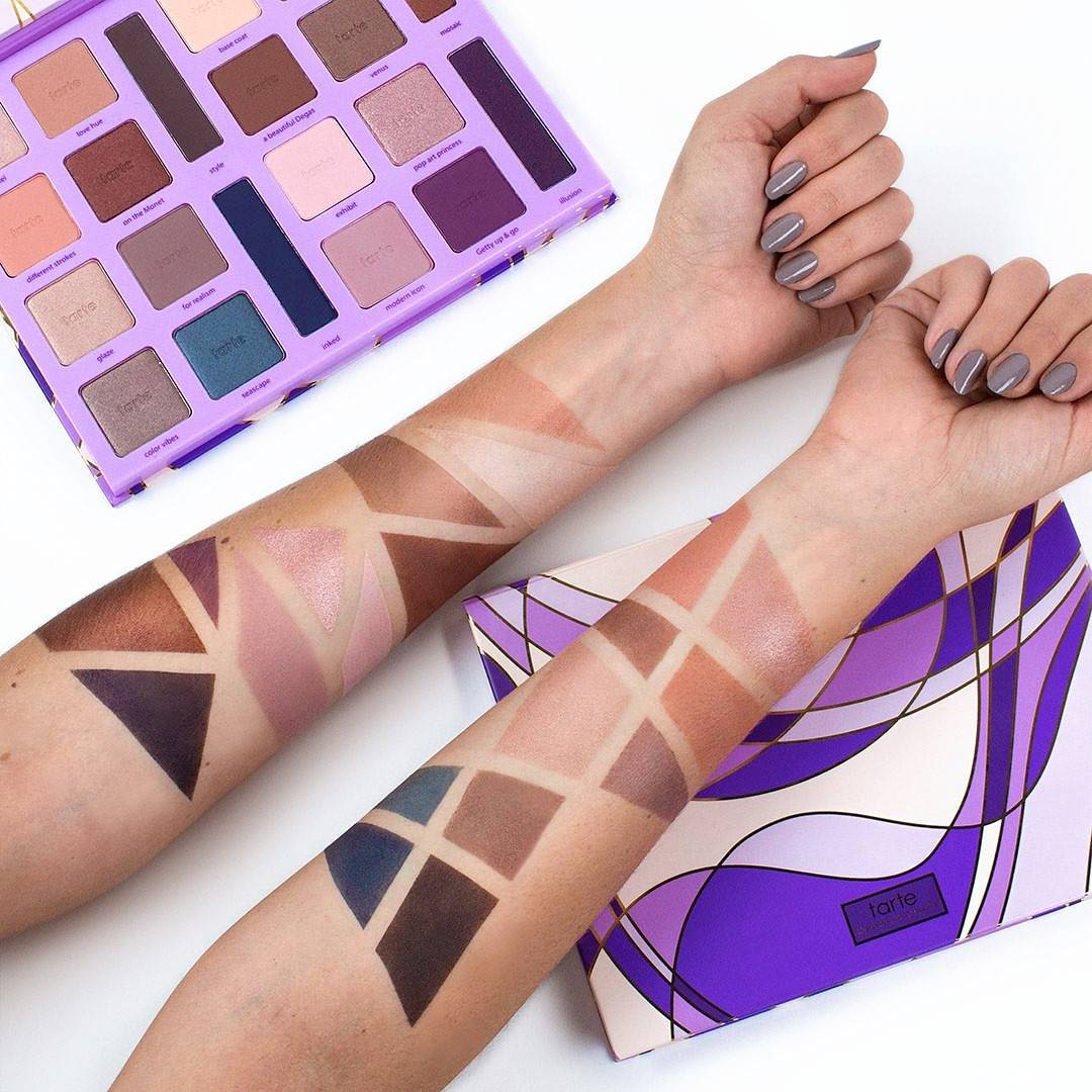 Tarte Color Vibes Amazonian Clay Eyeshadow Palette Swatches