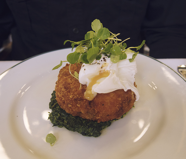 Salmon & smoked haddock fishcake with poached egg