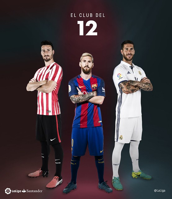 Los tres jugadores que llevan 12 años seguidos marcando en la Liga