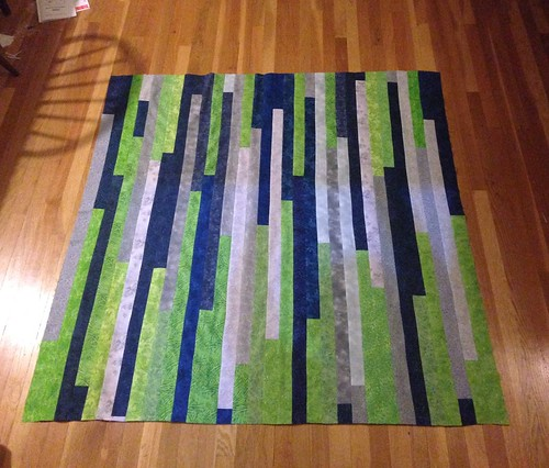 Jelly roll quilt top #2.