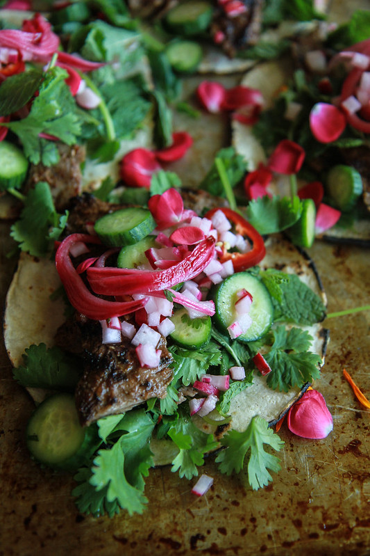 Lebanese Harrisa Steak Tacos from HeatherChristo.com